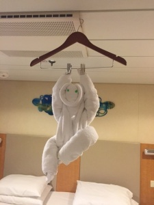 Because, towel monkey